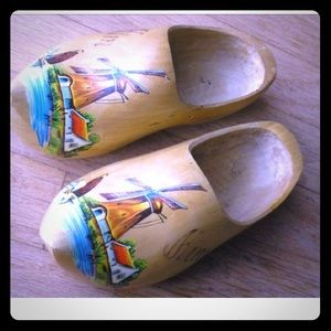 Authentic Vintage Holland Wooden Shoes